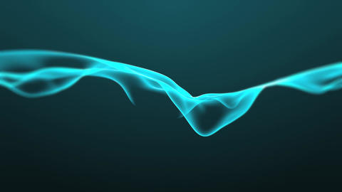 Blue Abstract Waves Animation