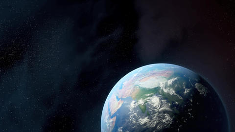Earth Flyover Animation