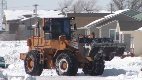 Bulldozer Snow Footage