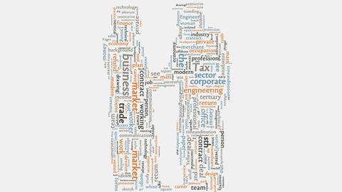 Word Cloud Handshake Concept Business Corporate Company Illustration stock footage