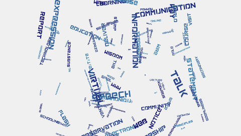 Social media Internet communication concept word cloud... Stock Video Footage