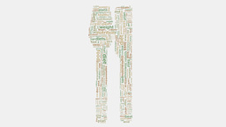 Obesity health diet medical overweight wordcloud text typography Animation