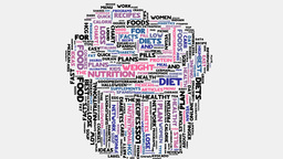 Cupcake Obesity Health Diet Medical Overweight Wordcloud Text Typography stock footage