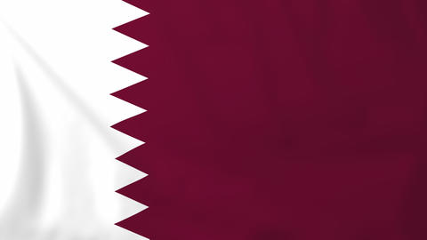 Flag of Qatar Animation