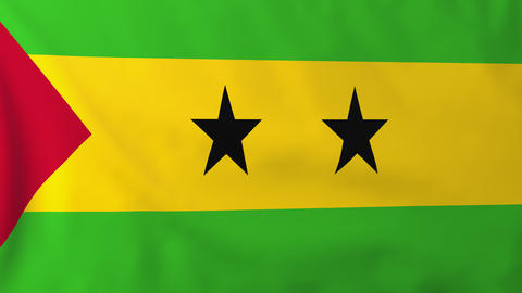 Flag of Sao Tome Animation