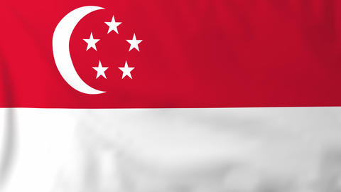 Flag of Singapore Animation