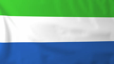 Flag of Sierra Leone Animation