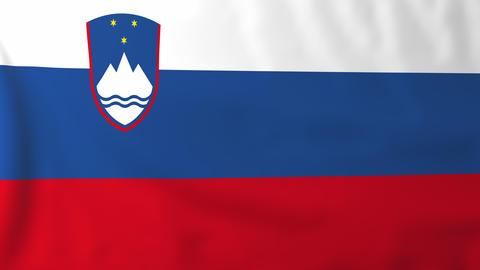Flag of Slovenia Animation