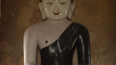 Buddha statue in niche Footage