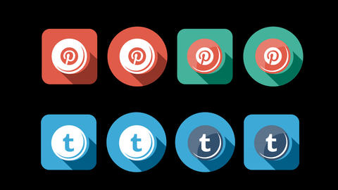 Flat Style Animated Social Icons Animation