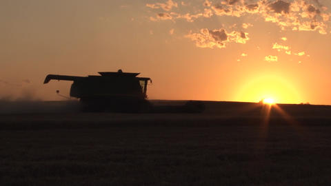 Sunset Timelapse Combine stock footage