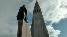 Iceland Reykjavik 048 landmark, place of interest, Church of Hallgrímur Footage