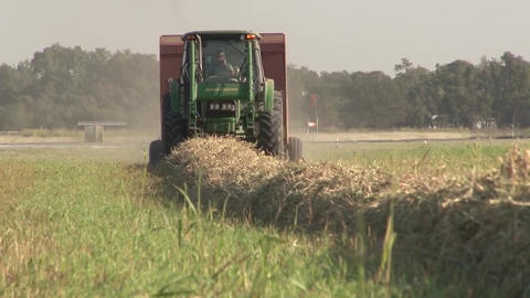 Tractor Cutting stock footage