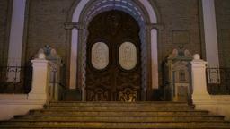 Church Stairs Door Tilt Up Footage