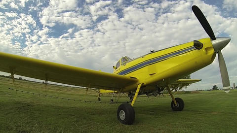 Go Pro Side Angle Parked Plane Live Action