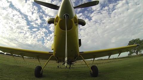 Go Pro Slow Tilt Up Parked Plane Live Action