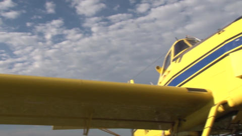 Parked Plane Wing & Propeller Live Action