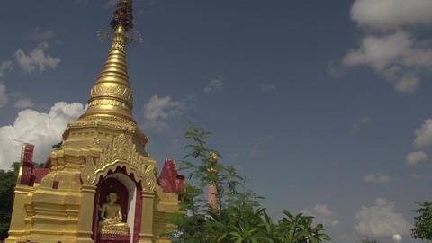 Buddhas in temple, Myanmar Footage