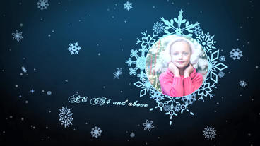 Snowflakes Gallery After Effects Template