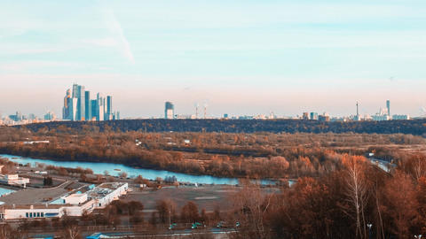 Time-lapse clip of the view on the city of Moscow in The Russia Footage