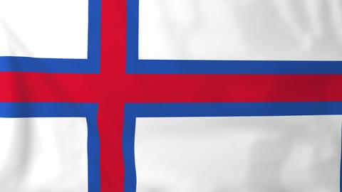 Flag of Faroe islands Animation