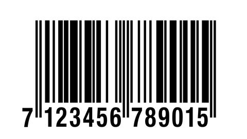 Scanning barcode isolated Stock Video Footage