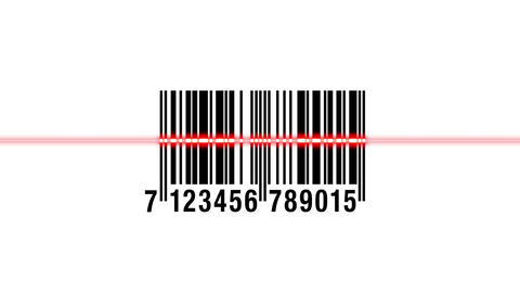 Scanning barcode isolated Animation