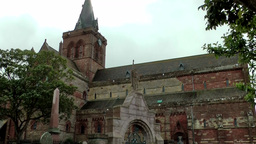 Scotland Orkney Islands Kirkwall 003 St. Magnus Cathedral north side Footage