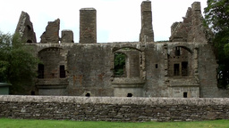 Scotland Orkney Islands Kirkwall 019 ruins of Bishop and Earls Palace Footage