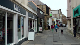 Scotland Orkney Islands Kirkwall 035 Shopping Zone In Downtown stock footage