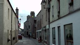 Scotland Orkney Islands Kirkwall 042 long alley in pedestrian zone downtown Footage
