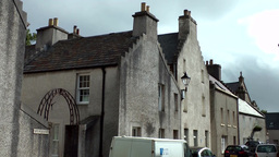 Scotland Orkney Islands Kirkwall 043 simple grey houses in main street Footage