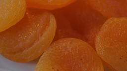 Dried Apricots Panning Left To Right stock footage