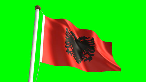 Albanian flag Animation