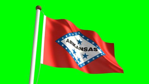 Arkansas flag Animation