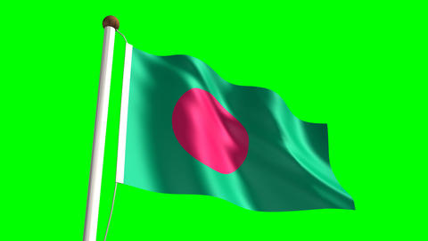 Bangladeshi flag Animation