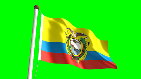Ecuadorian flag Animation