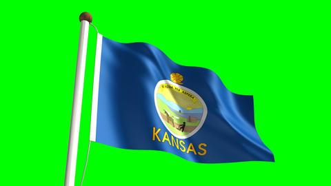 Kansas flag Animation