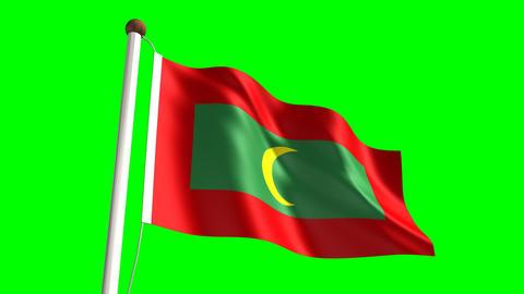Maldives flag Animation