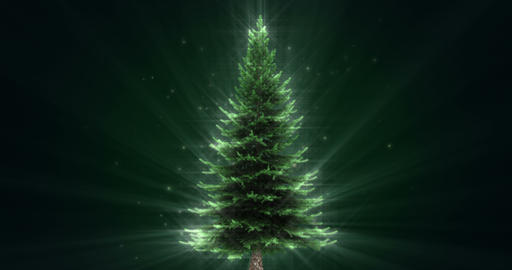 Shiny Christmas Tree Animation