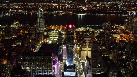 New York City at night high angle Footage
