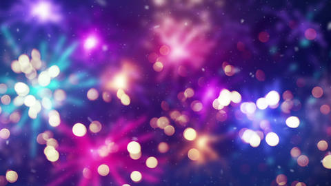 out of focus beautiful fireworks seamless loop animation Animation