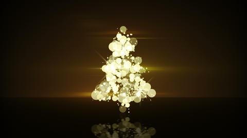 glow gold christmas tree shape loopable animation 4k (4096x2304) Animation