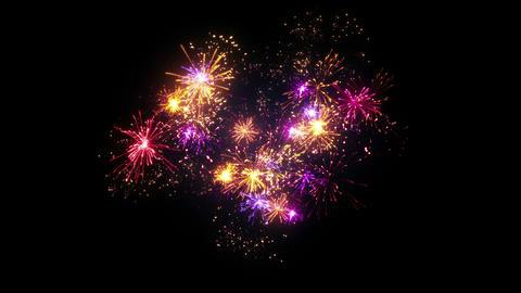 heart shape fireworks display seamless loop animation 4k (4096x2304) Animation