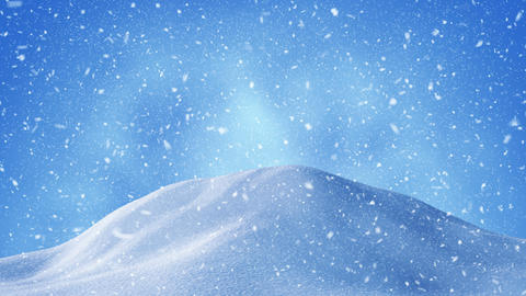 beautiful snow drifts and snowstorm background loop 4k (4096x2304) Animation