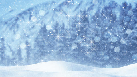 fairy snowfall abstract christmas background loop 4k (4096x2304) Animation