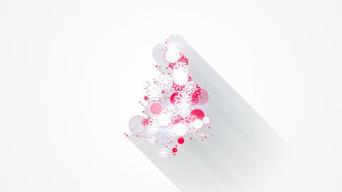 red white christmas tree shape loopable animation 4k (4096x2304) Animation