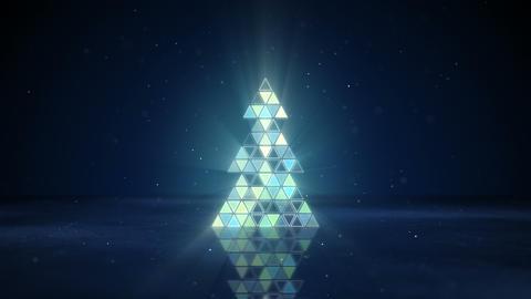 christmas tree shape of flashing triangles loop 4k (4096x2304) Animation