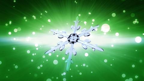 bokeh Christmas Snowflake green Animation