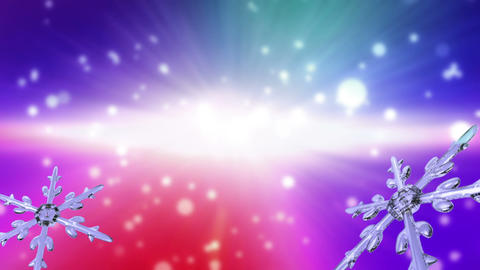 bokeh Christmas Snowflakes color transition Animation
